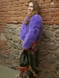 Preview: EYES ON MISHA feather bolero jacket La Fiffi violet LIMITED EDITION