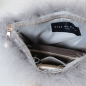 Preview: EYES ON MISHA feather handbag La Fiffi pearl grey