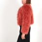 Preview: EYES ON MISHA chaqueta bolero de plumas La Fiffi naranja tostado