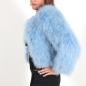 Preview: EYES ON MISHA feather bolero jacket La Fiffi dust blue