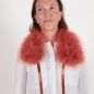 Preview: EYES ON MISHA feather collar La Fiffi burnt orange