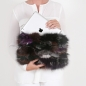 Preview: EYES ON MISHA fox fur bag Foxy patch grey multicolour