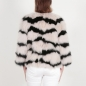 Preview: EYES ON MISHA fox fur jacket Olivia blush/schwarz