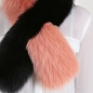 Preview: EYES ON MISHA fox fur stole Twist black orange SAMPLE
