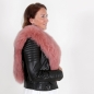 Preview: EYES ON MISHA fox fur stole Diane lobster pink