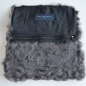 Preview: EYES ON MISHA Pelztasche aus Lammfell Curly Clutch grau MUSTERTEIL