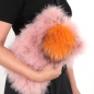 Preview: EYES ON MISHA Taschenanhänger Pelzbommel Big Pompom orange