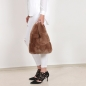 Mobile Preview: EYES ON MISHA rex rabbit fur bag Lapinette toffee brown