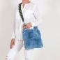 Preview: EYES ON MISHA Pelztasche aus Kaninchenfell Lapinette blau