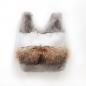 Preview: EYES ON MISHA rex rabbit and raccoon fur bag Lapinette Raccoon sand
