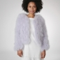 Preview: EYES ON MISHA chaqueta bolero de plumas La Fiffi lavanda