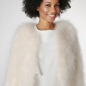 Preview: EYES ON MISHA chaqueta bolero de plumas La Fiffi blanco roto