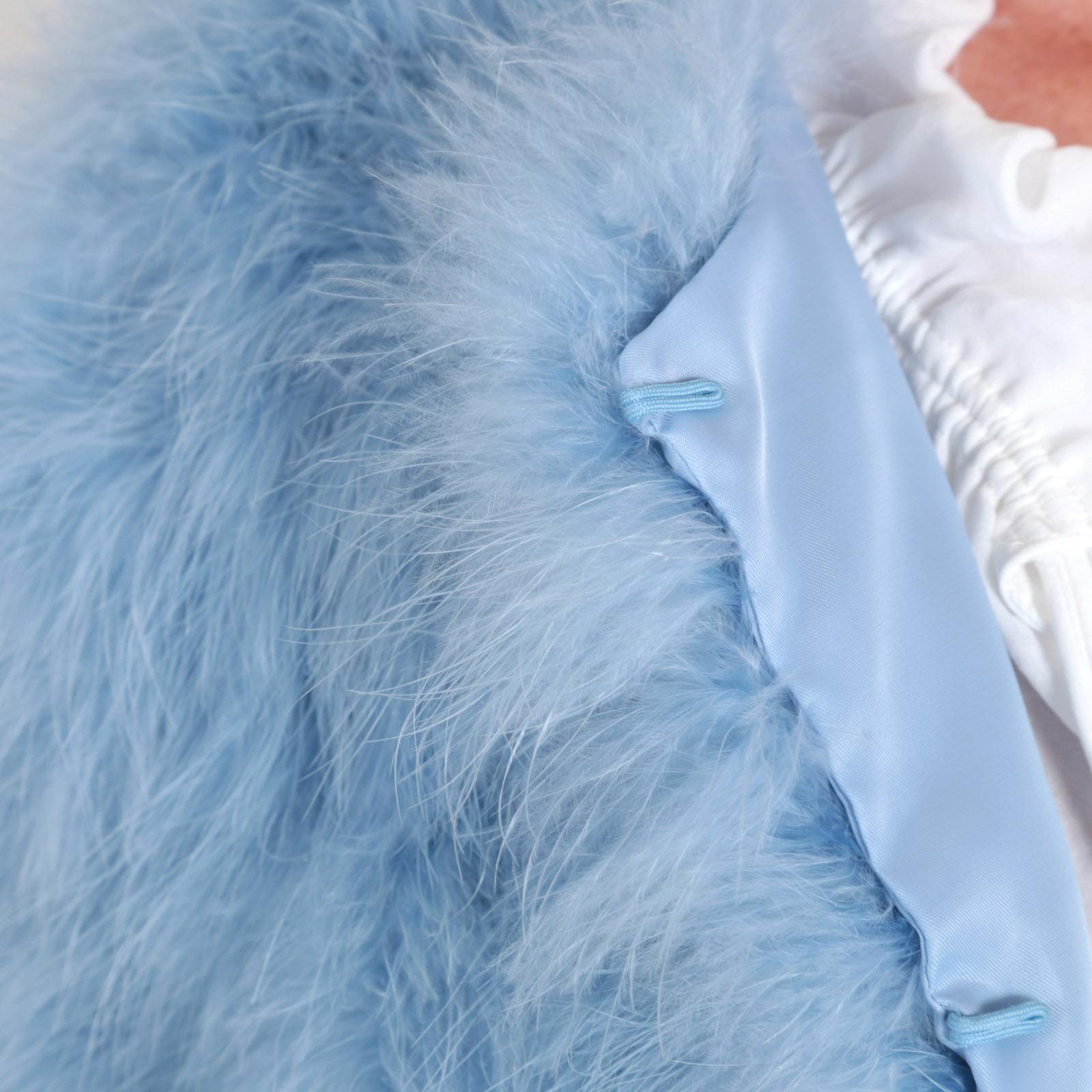 EYES ON MISHA Furry fashion Bolero Jacke aus Federn La