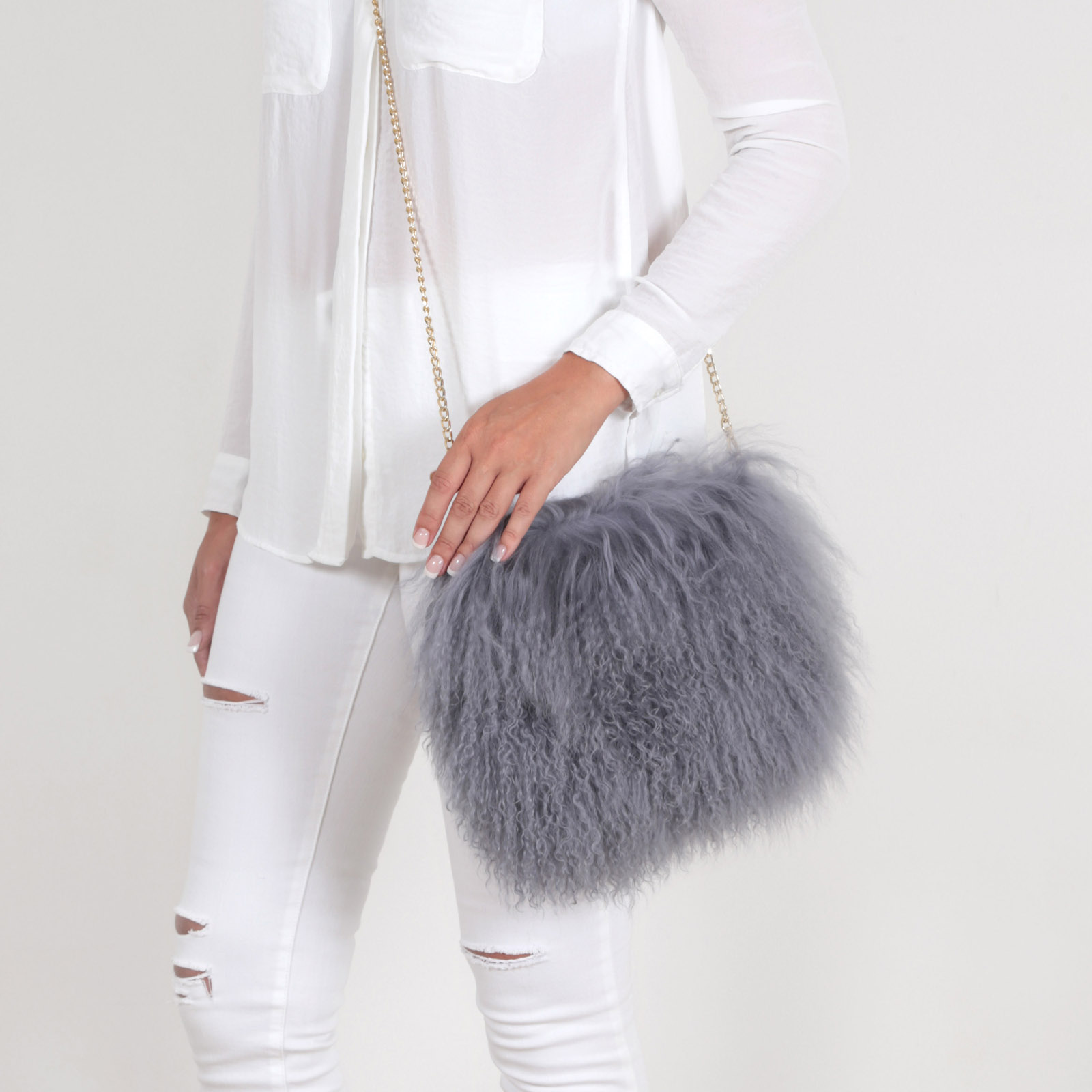 e34650811d9d EYES ON MISHA - Fur fashion - Bag made of Mongolian lamb fur Boho ...